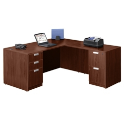 "Contemporary L-Desk - 66"" x 78"", 13072"