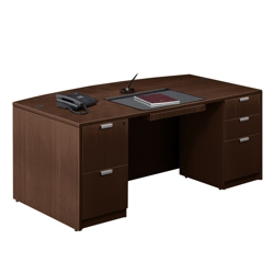"Contemporary Bow Front Desk - 71"" x 42"", 15774"