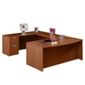Contemporary Bow Front U-Desk, 15777