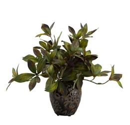 "Peony Foliage Jar- 10""H, 92362"