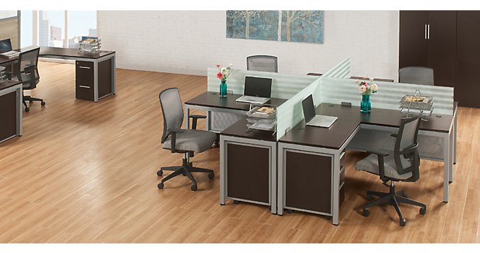 1 Desk 3 Ways: The At Work L-Shaped Desk | NBF Blog
