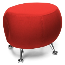 Low Fabric Stool with Chrome Legs, 56601