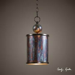 One Light Metallic Mini Pendant, 82594