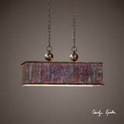 Rectangular Metallic Pendant, 82596