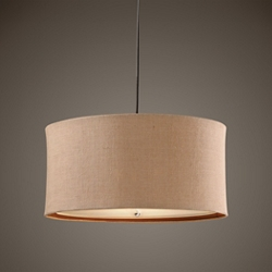 Three Light Drum Pendant, 82597
