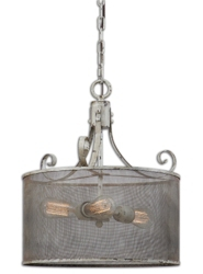 Three Light Drum Pendant, 82601