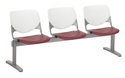 Three Seat Polypropylene Beam Seating, 76543