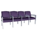 Trados Metal Frame Four Ganged Guest Chairs, 25075