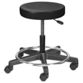 Height Adjustable Doctors Stool with Foot Ring, 25083