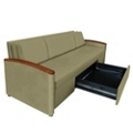 Sleeper Sofa with Folding Cushions, 25113