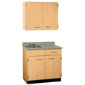 "Cabinet with Left Hand Sink and Wall Cabinet - 36""W, 25210"