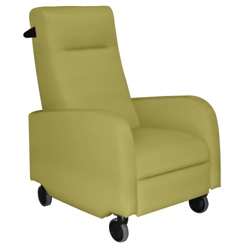 Mobile Fabric Patient Recliner with Aluminum Finish Push Bar, 25262