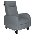 Mobile Fabric Patient Recliner with Black Finish Push Bar, 25261