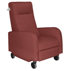 Haley Patient Recliner with Aluminum Finish Push Bar in Vinyl, 25327