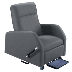 Mobile Bariatric Patient Recliner with Trendelenburg in Vinyl, 25329