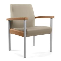 Metal Legged Vinyl Guest Chair, 25558