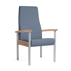 Metal Legged Vinyl High-Back Guest Chair , 25598