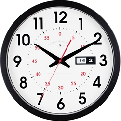 """Contemporary 14"""" Day and Date Wall Clock, 86451"""