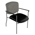 Extra Wide Vinyl Stack Chair, 25637