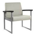 Behavioral Health Vinyl Bariatric Guest Chair with Weighted Seat Pan, 25744