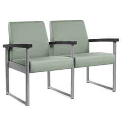 Behavioral Health Heavy-Duty Vinyl Two-Seater with Weighted Seat Pan, 25745
