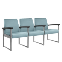 Behavioral Health Heavy-Duty Vinyl Three-Seater with Weighted Seat Pan, 25746