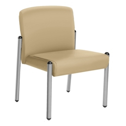 Armless Guest Chair In Vinyl, 25749