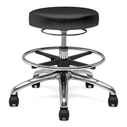 Physician Stool with Hand Ring and Foot Rest, 25891