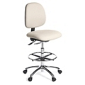 Vinyl Armless Lab Stool with Footring, 25894