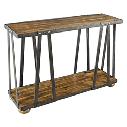 "Solid Wood Console Table with Metal Frame - 48.5""W, 46248"
