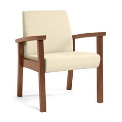 Wood Legged Vinyl Guest Chair , 25943