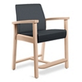 Wood Legged Vinyl Hip Chair , 25952