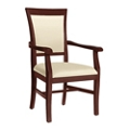 Curved Arm Dining Chair, 26106
