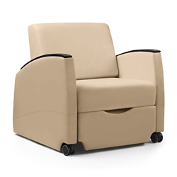 Three Position Vinyl Sleep Chair with Removable Cover, 26109
