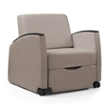 Wide Three Position Vinyl Sleep Chair with Removable Cover, 26111