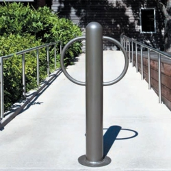 "Surface Mount Bike Bollard - 3'H x 8""Dia, 82429"