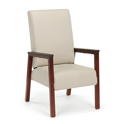 Oliver Vinyl Flex Back Patient Chair with Wood Frame, 26479