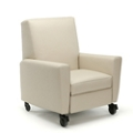 Oliver Push-Back Vinyl Recliner with Casters, 26480