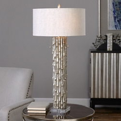 Silver Bamboo Table Lamp, 82478