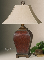 "Crackled Table Lamp - 13""H, 92502"