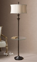 "Traditional Floor Table Lamp with Glass Surface - 69.25""H, 92509"