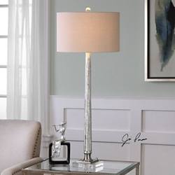 Ribbed Mercury Glass Table Lamp, 82485