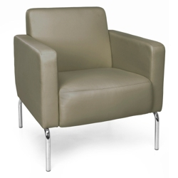 Modular Polyurethane Lounge Chair with Chrome Legs, 75774