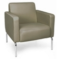 Modular Polyurethane Lounge Chair with Chrome Legs, 75774