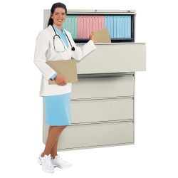 "Five-Drawer 42"" Wide Lateral File, 30366"