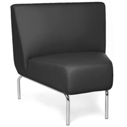 Modular 45 Degree Armless Polyurethane Lounge Chair with Chrome Legs, 75778