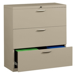"""36"""" Wide Three-Drawer Lateral File with Counterweights, 30574"""