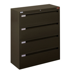 "Spectrum Four Drawer Lateral File with Counterweight - 42""W, 30589"