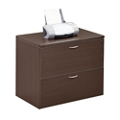 Two Drawer Wood Grain Laminate Lateral File, 30844