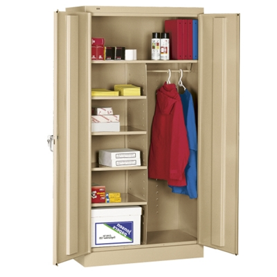 36 W x 18 D x 72 H Combination Storage Cabinet ...  sc 1 st  National Business Furniture & Metal Wardrobe Cabinets Lifetime Guarantee